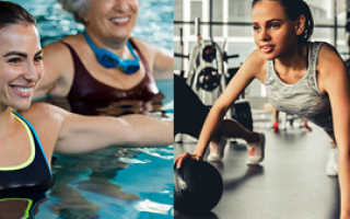 Аквааэробика или плавание что лучше для суставов. Аквааэробика или тренажерный зал — что лучше? Из чего состоит занятие