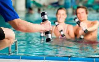 Как убрать живот в бассейне упражнения. Упражнения в воде для пресса