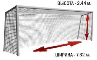 Футбольные ворота размеры стандарты. Сколько футбольные ворота