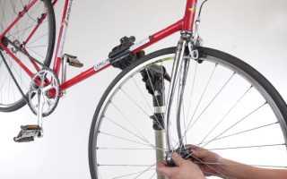 Как вставить переднее колесо велосипеда. Как снять переднее колесо