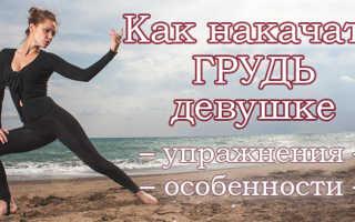 Какие упражнения для грудных мышц для женщин. Как девушкам подкачать грудные мышцы: самые крутые упражнения