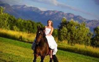 Как сделать красивые свадебные фото с лошадьми и собаками.