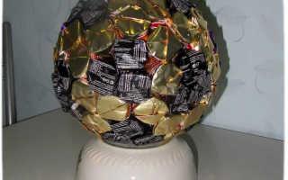 Пошаговый фото мастер-класс: футбольный мяч из конфет своими руками. Как сделать футбольный мяч из конфет