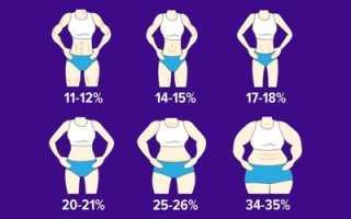 Какой процент мышечной массы должен быть у женщин. Правильное соотношение жира, мышц и воды в организме