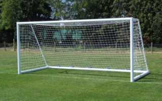 Мини футбольные ворота размеры. Как крепится к раме сетка для футбольных ворот