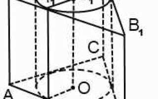 Вписанные и описанные тела. Цилиндр, описанный около призмы Цилиндр можно описать около прямой призмы если ее основание – многоугольник, вписанный в окружность