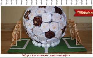 Футбольный мяч из конфет. Футбольный мяч из конфет своими руками: мастер-класс с фото