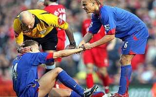 Самые жесткие травмы в футболе. Чуть не оторвало ногу: самые страшные травмы в футболе