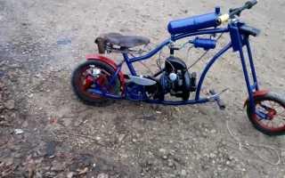 Как сделать самодельный мопед из велосипеда? Самодельный мотоцикл из бензопилы.