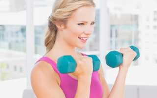 Упражнения на бицепс с гантелями для девушек. Как накачать бицепс девушке