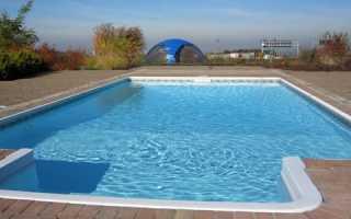 Монолитная чаша бассейна. Бассейн на даче из бетонного кольца