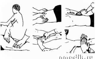 Прием валяние в массаже. Разминание