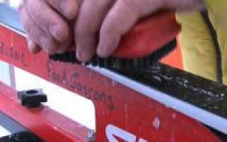 Подготовка новых лыж фишер для конькового хода. Подготовка скользящей поверхности